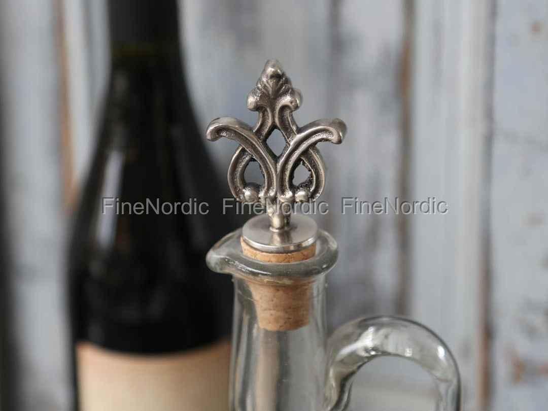 Antique Silver Initial Wine Bottle stopper