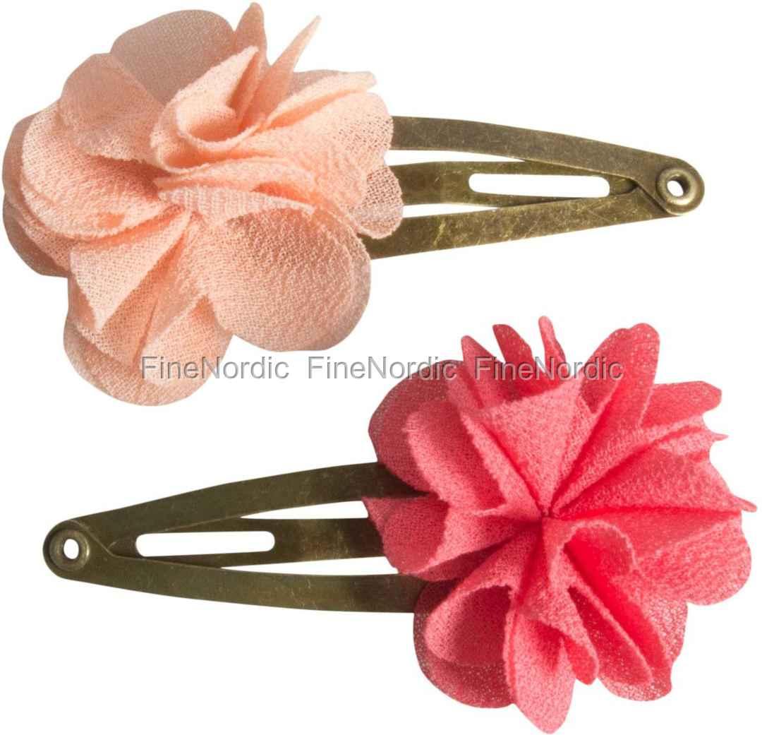 Maileg Children - Hair Clips - Fluffy Flower - Rose - 2 pcs
