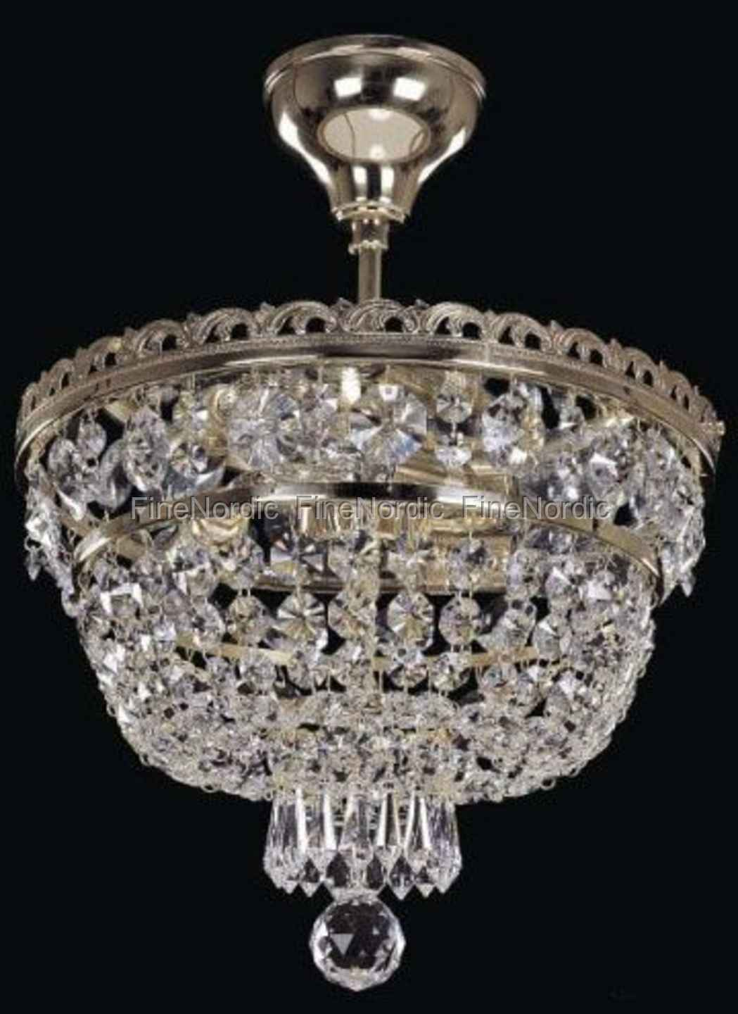 Elite bohemia crystal chandelier ceiling mount with 3 lights elite bohemia crystal chandelier ceiling mount with 3 lights silver finish bohemian crystal aloadofball Images