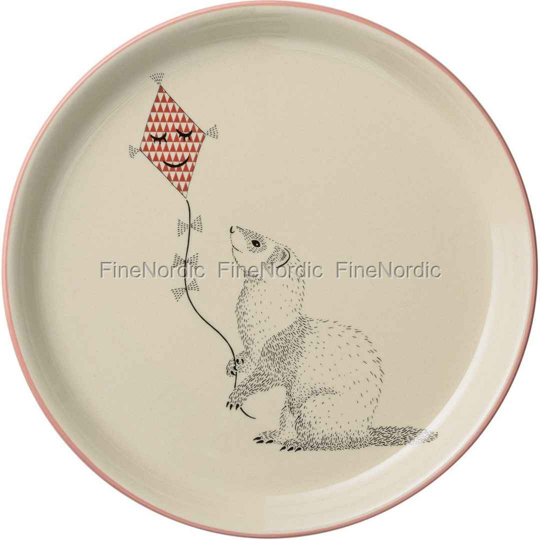 Bloomingville Dinner Plate Mollie - Ferret with Kite - Off White / Nude - Ø 25 cm  sc 1 st  FineNordic & Bloomingville Dinner Plate Mollie - Ferret with Kite - Off White ...