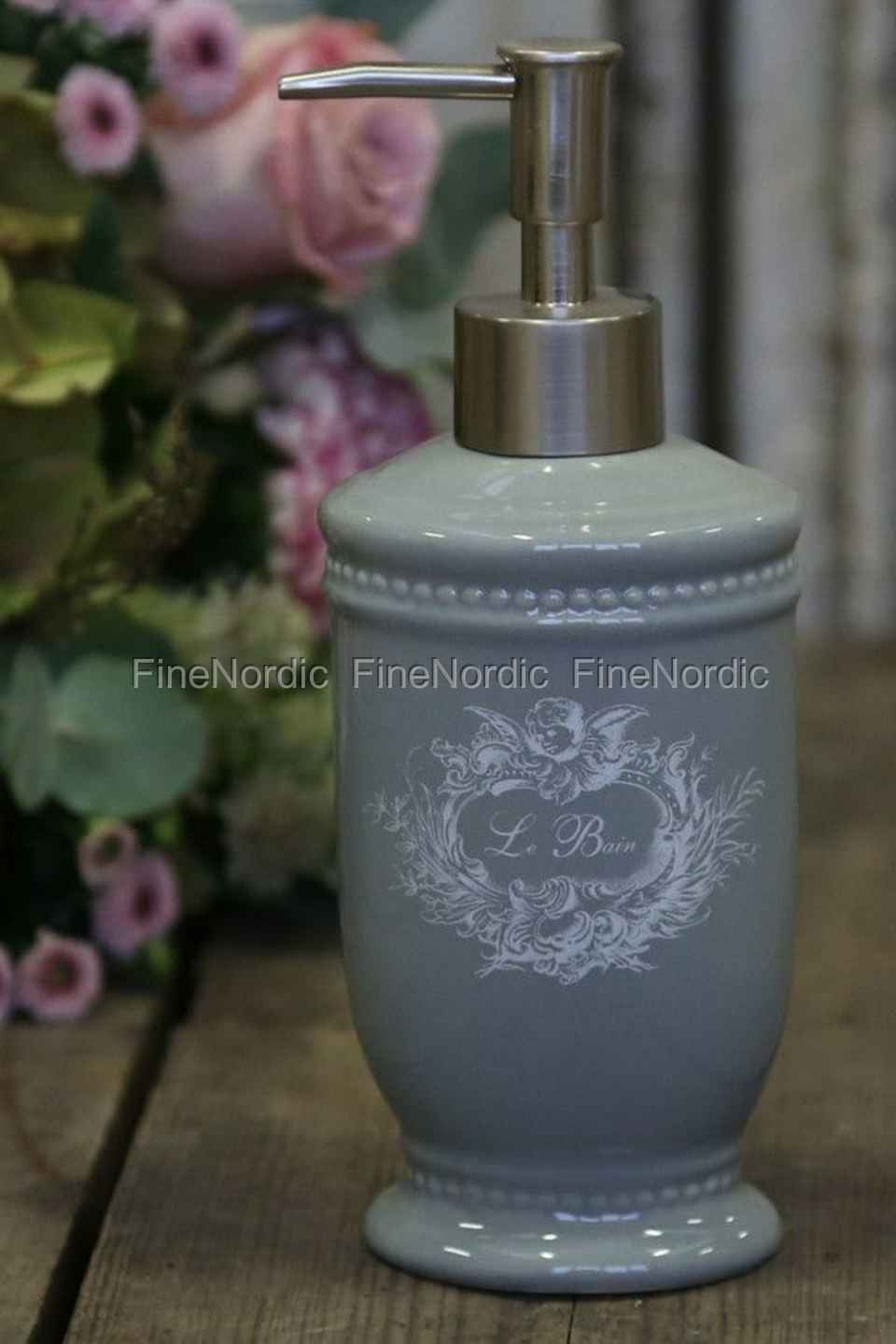 Chic Antique Soap Dispenser With Angels