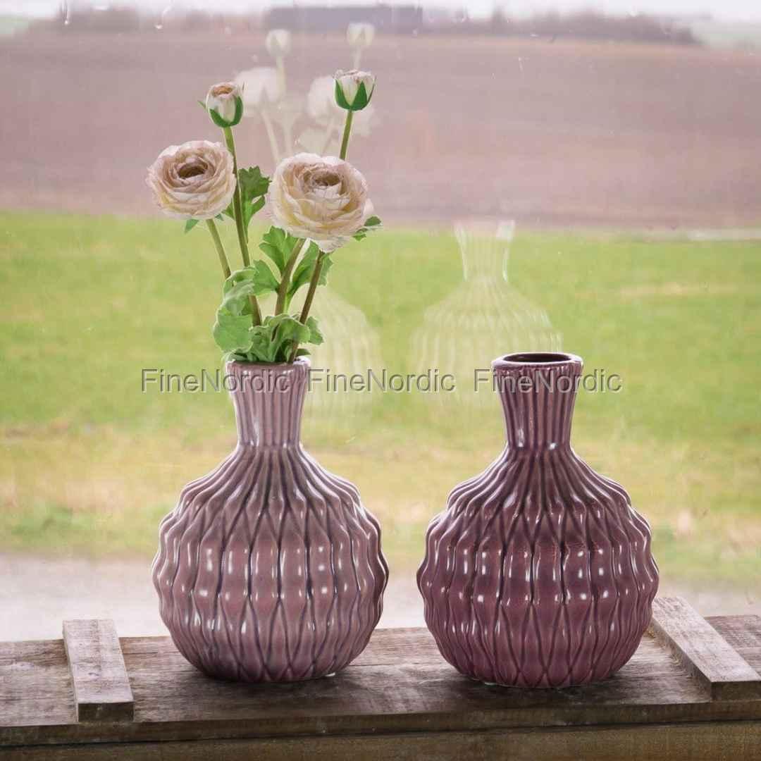 Bloomingville Vase Heavy Structure Orchide H 20 Cm