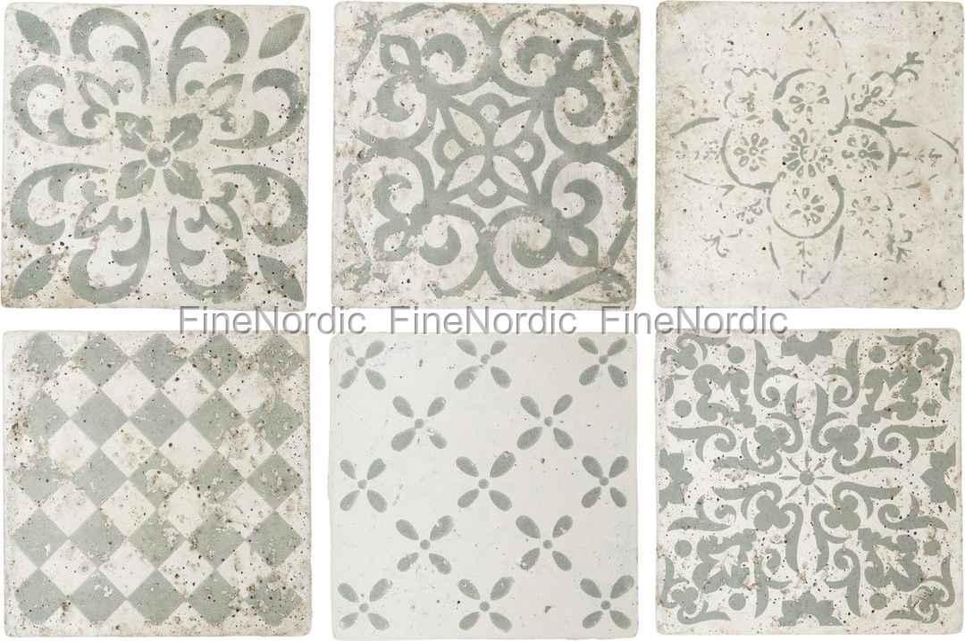 Ornament Fliesen ib laursen tiles marrakech set of 6 patterns in green medium