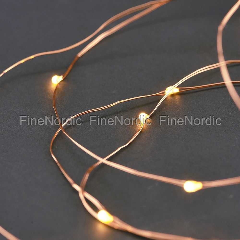 House Doctor Fairy Lights 10 m Copper - 80 LED Lights - with Timer ...