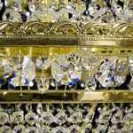 Crystal Chandelier - Basket with 9 lights - Gold Finish - Swarovski Crystal