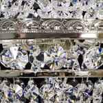 Crystal Chandelier - Basket with 3 lights - Silver Finish - Swarovski Crystal