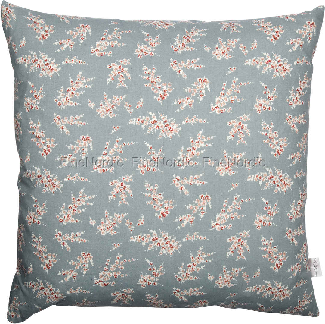 A u maison cushion wisteria dusty blue 50 x 50 cm for Au maison cushion