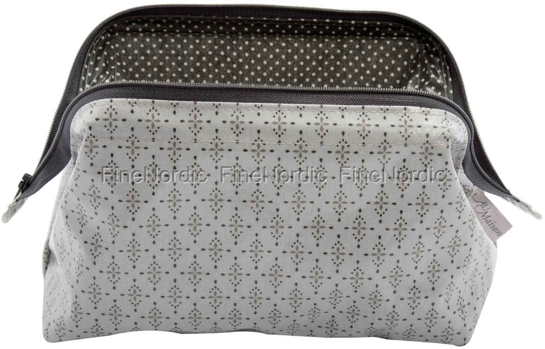 A U Maison Cosmetic Bag Yasmin Light Grey Charcoal M