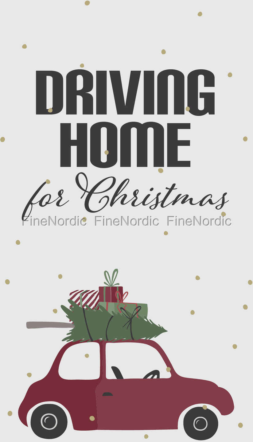Driving Home For Christmas.Ib Laursen Paper Napkins Driving Home For Christmas 16 Pcs