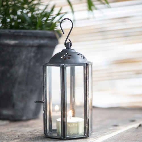 ib laursen lantern mini hexagonal round top with pattern factory black