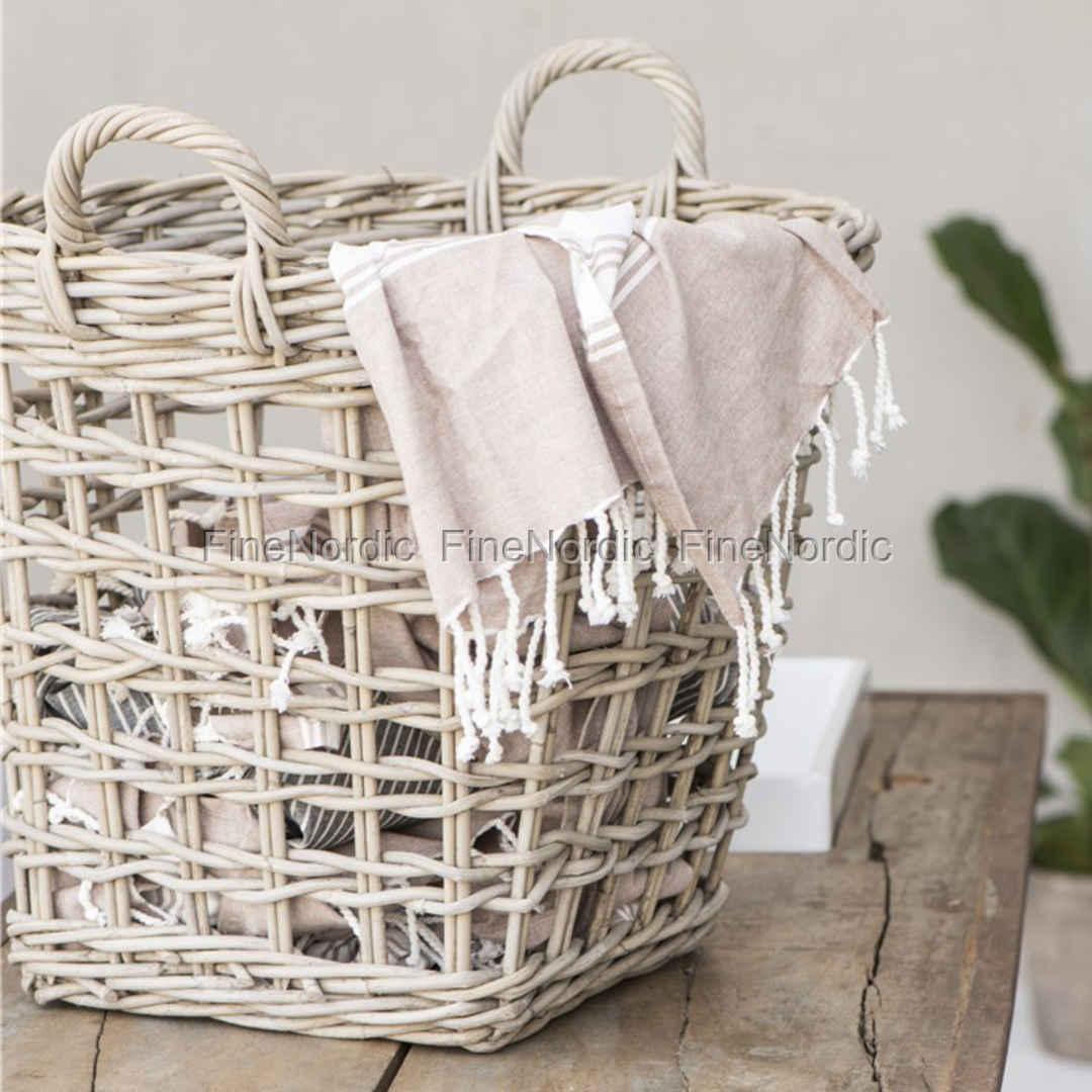 Basket Weaving Handles : Ib laursen basket with handles open weaving rattan