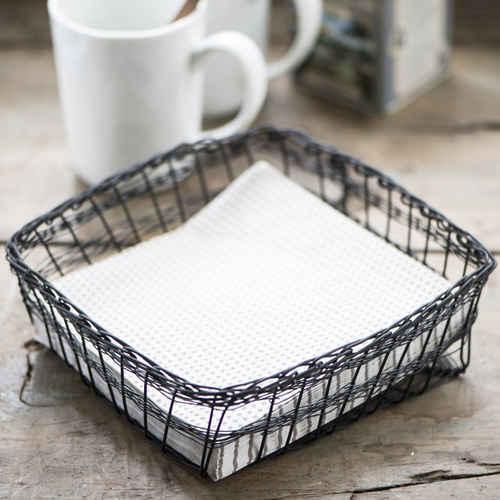 ib laursen napkin holder fil de fer factory black - Napkin Holders