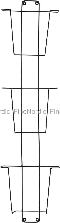 Madam Stoltz Magazine Rack Black Iron Wire 3 Tier