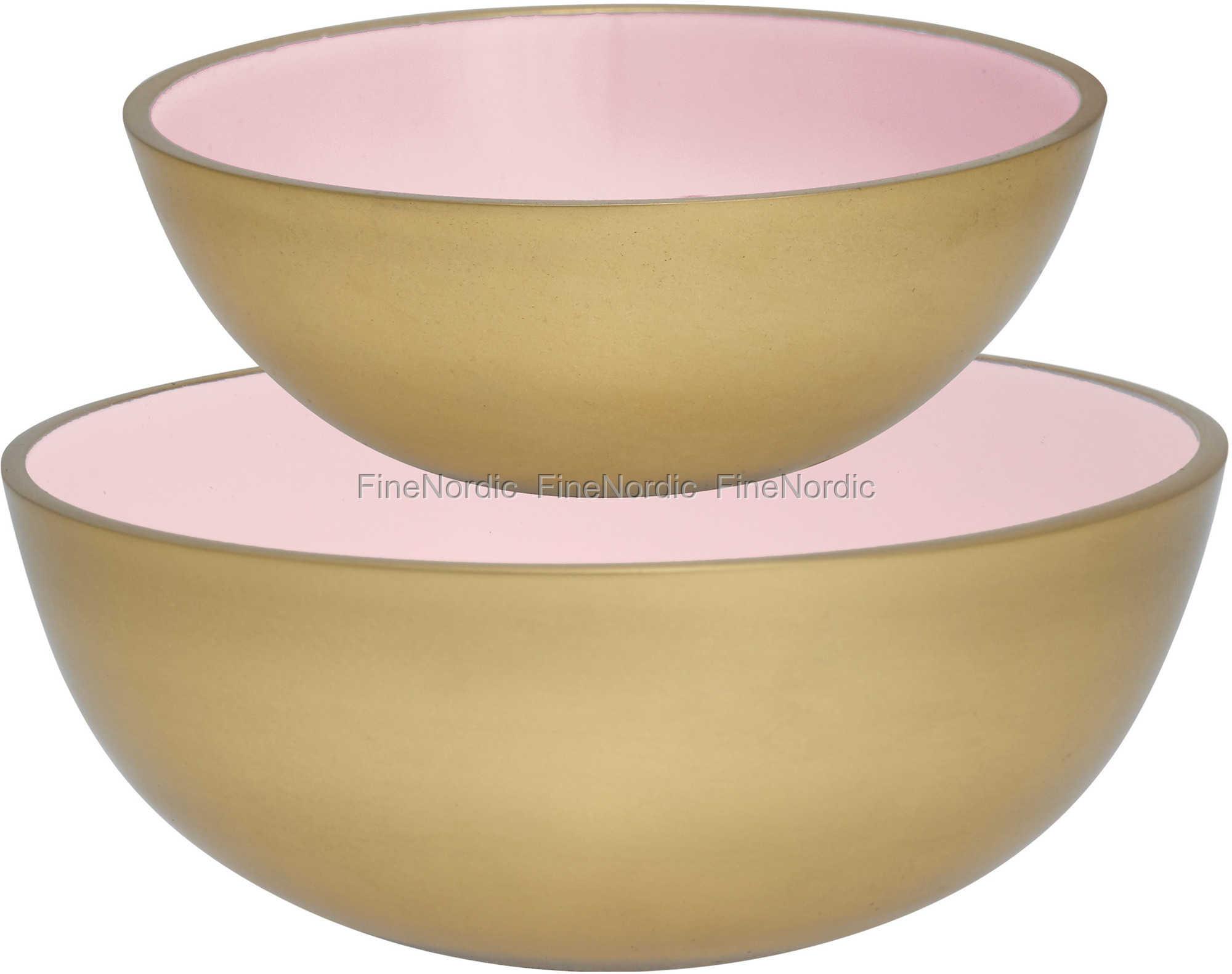 Greengate Espressotassen greengate alu bowls pale pink with gold set of 2 jpg