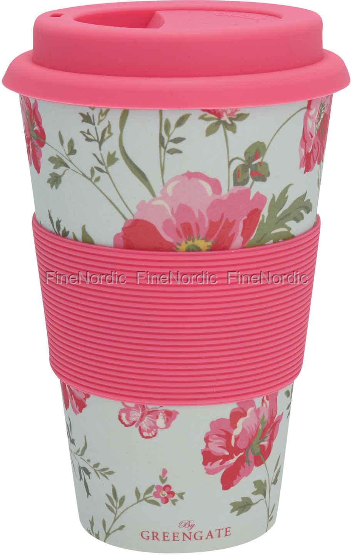 Greengate Espressotassen greengate bamboo travel mug meadow pale blue