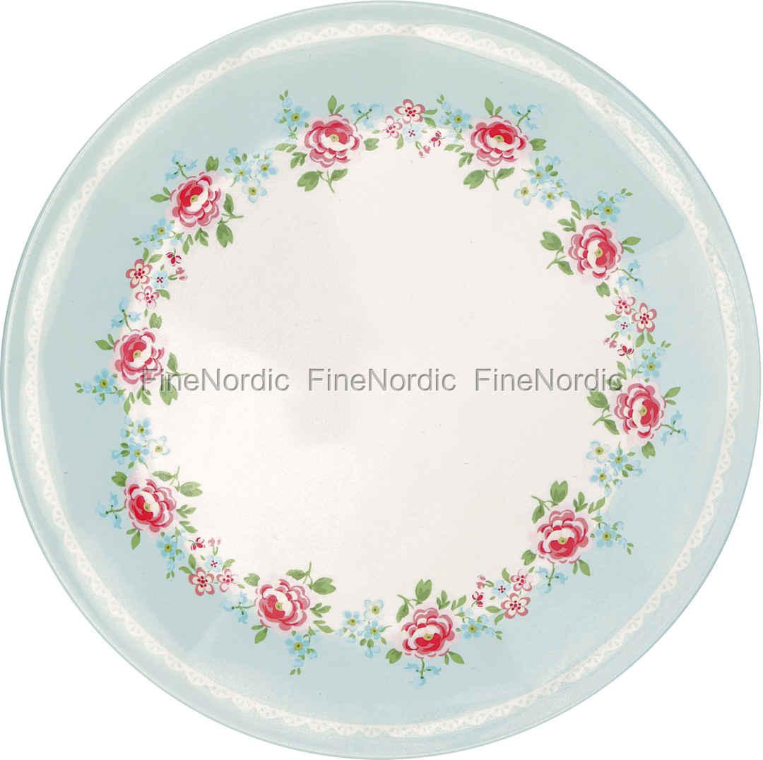 sc 1 st  FineNordic & GreenGate Melamine Plate Meryl Pale Blue 20 cm
