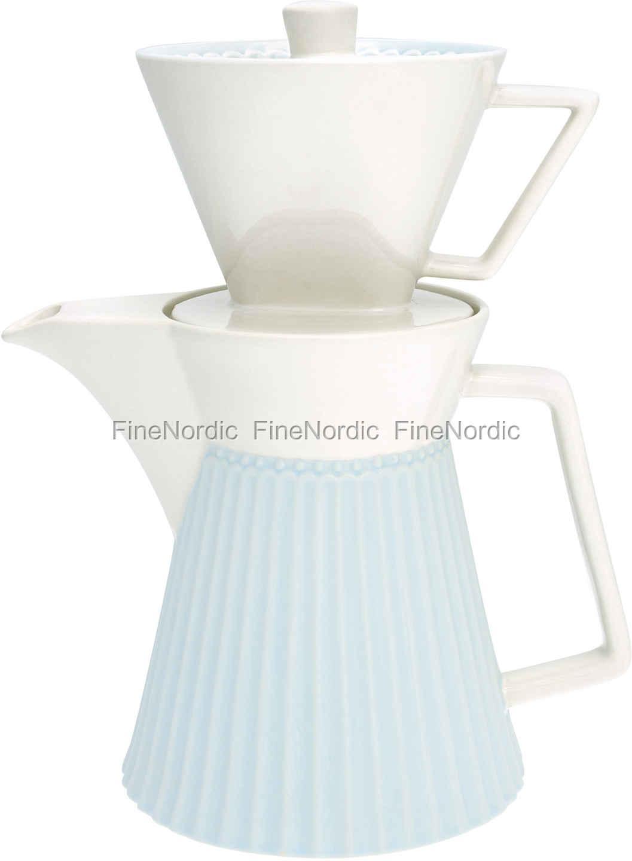 Greengate Espressotassen greengate coffee pot with filter pale blue