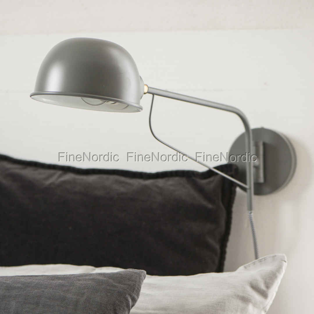 Ib laursen wall lamp round lampshade grey round lampshade grey 5790 mozeypictures Gallery