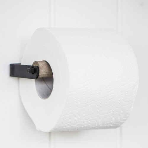 Ib Laursen Toiletpaper Holder Wooden Bar Altum Black