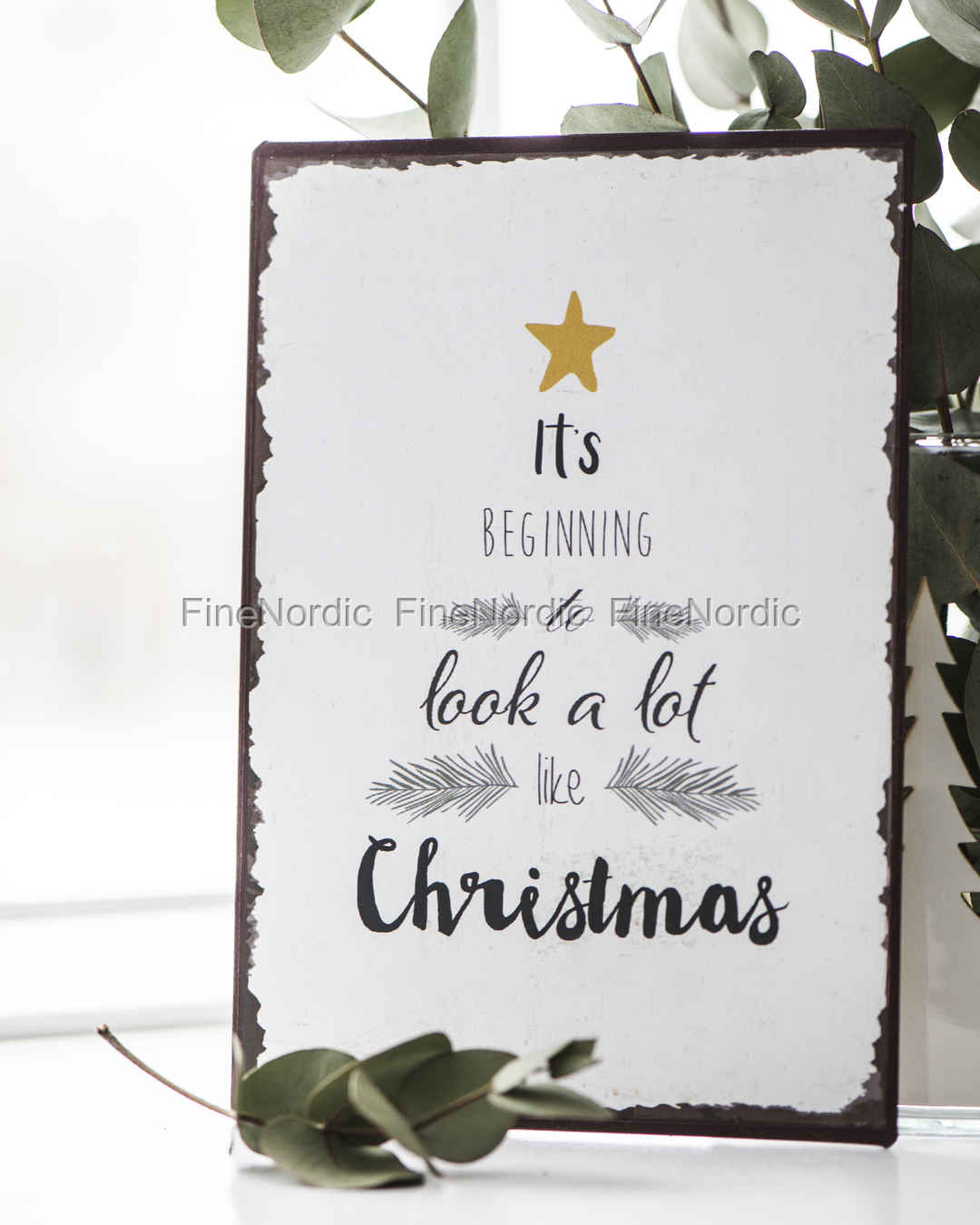 Ib Laursen Metal Sign It\'s Beginning to Look a Lot Like Christmas