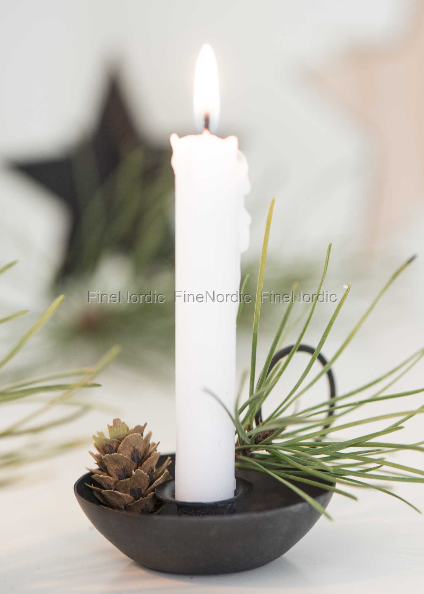 Ib Laursen Candle Holder For Thin Candles Factory Black