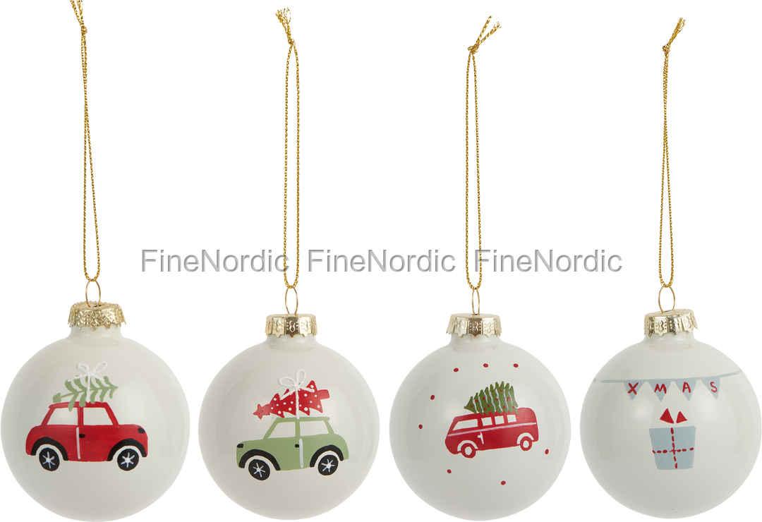 Ib Laursen Christmas Ornaments Merry Christmas Set of 4