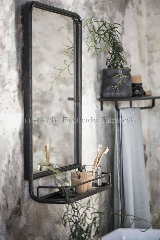 Wall mirror metal with shelf 106 90 €