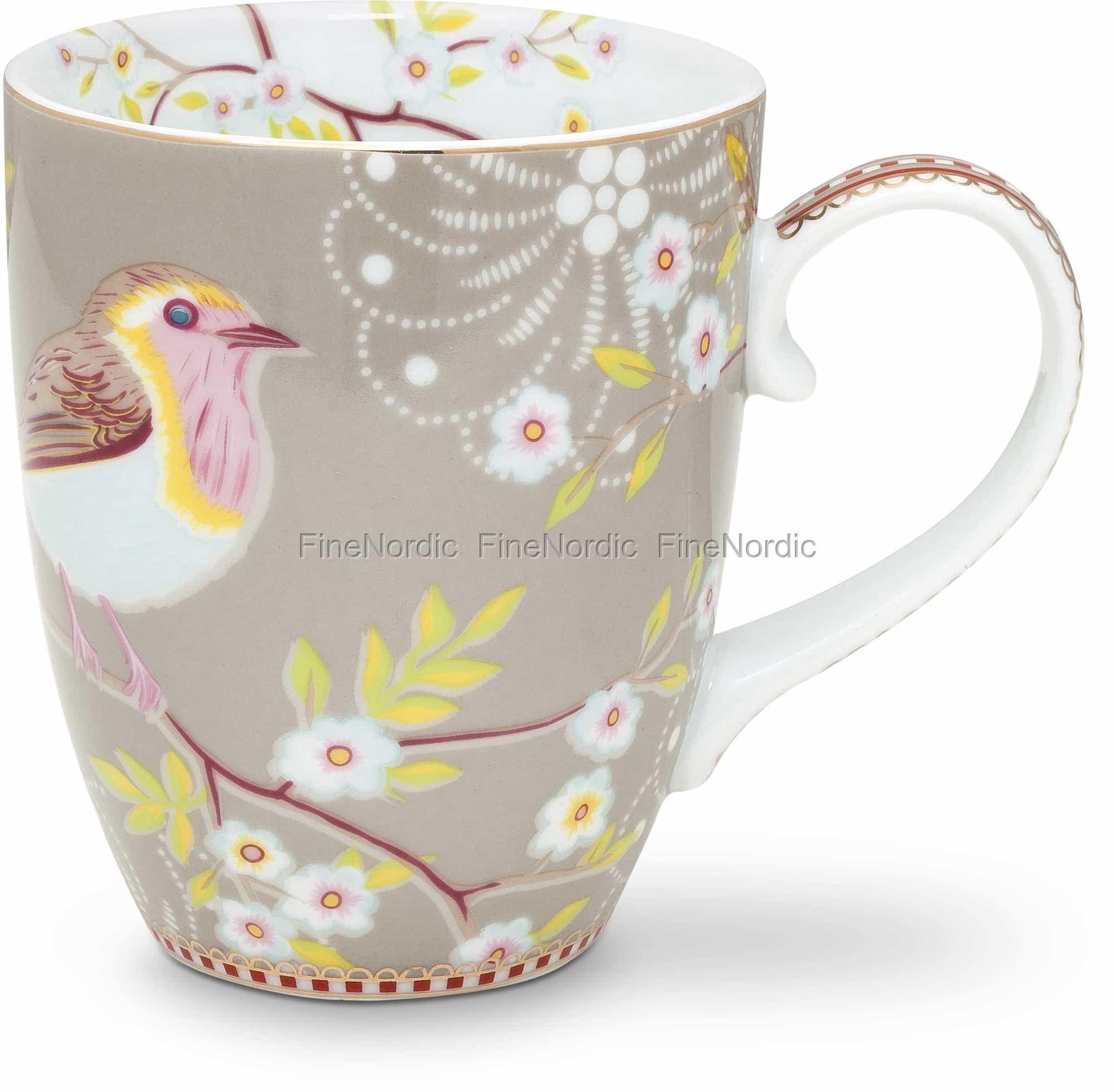 Pip Studio Floral Mug Large Early Bird Khaki