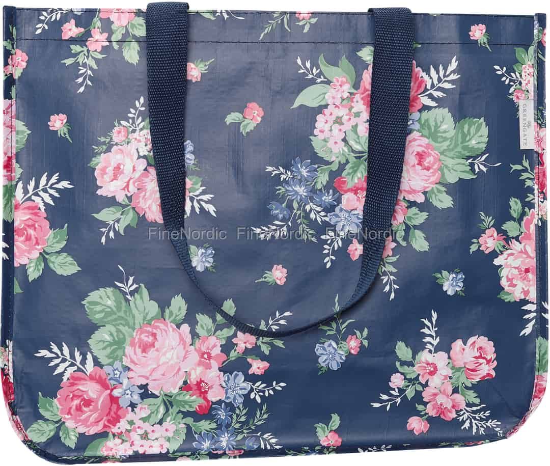 126f9132d302e GreenGate Shopper Bag Rose Dark Blue Round Bottom. 7.90 €
