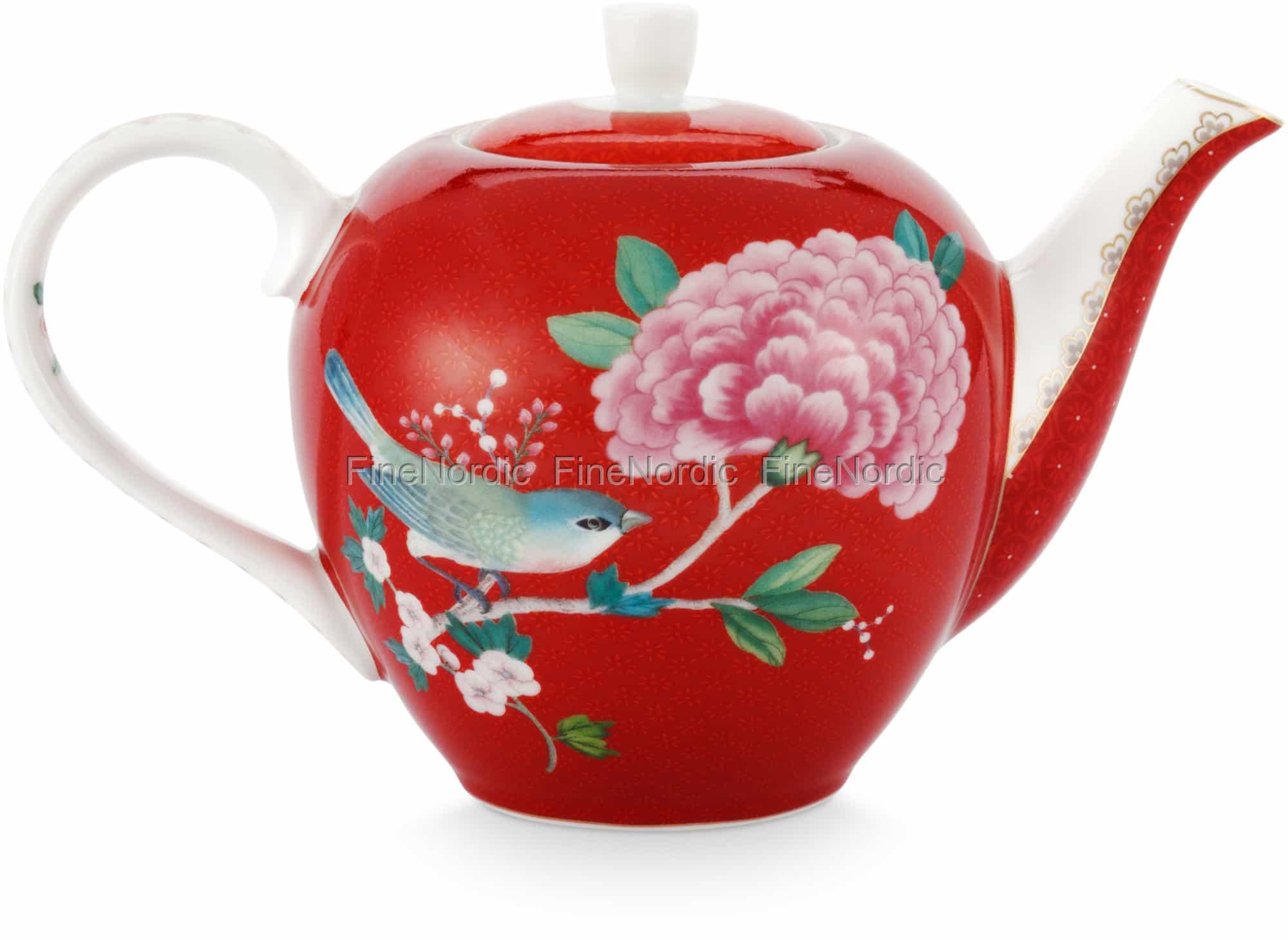 Pip Studio Teapot Small Blushing Birds Red