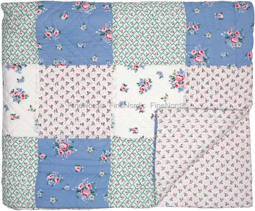 Tagesdecke 180 X 240.Greengate Bed Cover Nicoline White Patchwork 180 X 240 Cm