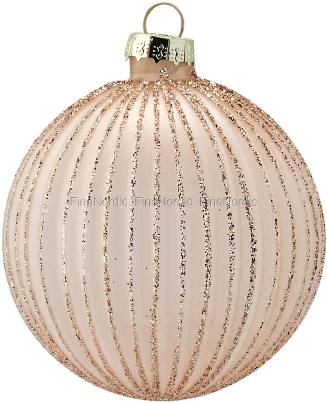 Vintage Hand Blown Iridescent Pink Glass Ornament