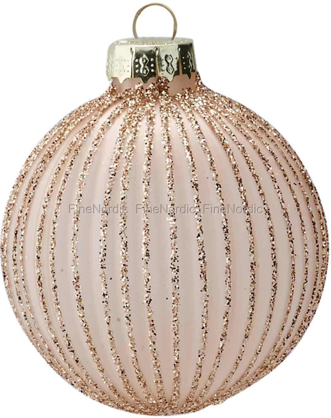 3 Metal Acorn Baubles with Gold Detailing - Heavenly Homes