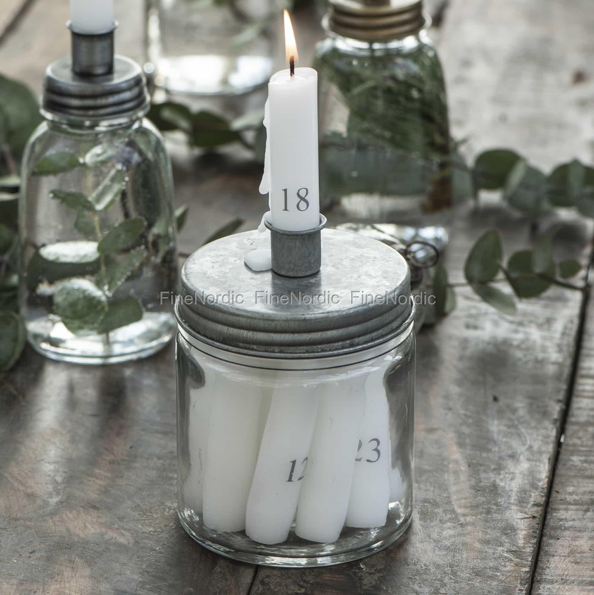 Ib Laursen Candle Holder Metal Cover Low Zinc