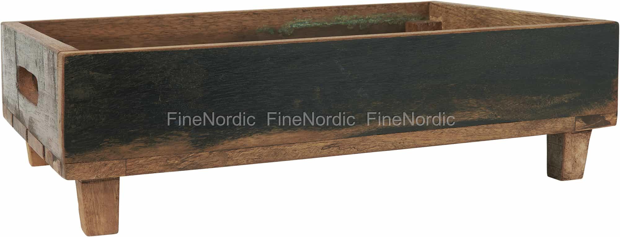Ib Laursen Wooden Box On Feet Unique Stackable