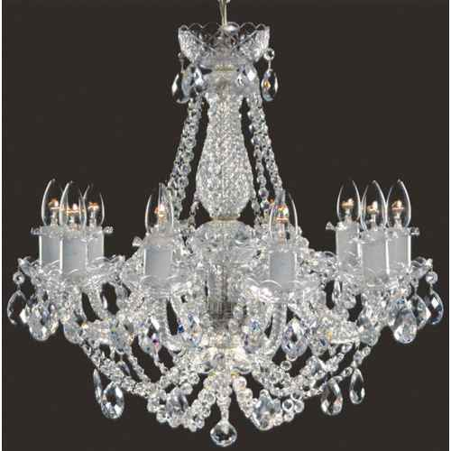 crystal chandelier 10 arms silver finish swarovski crystal - Swarovski Crystal Chandelier