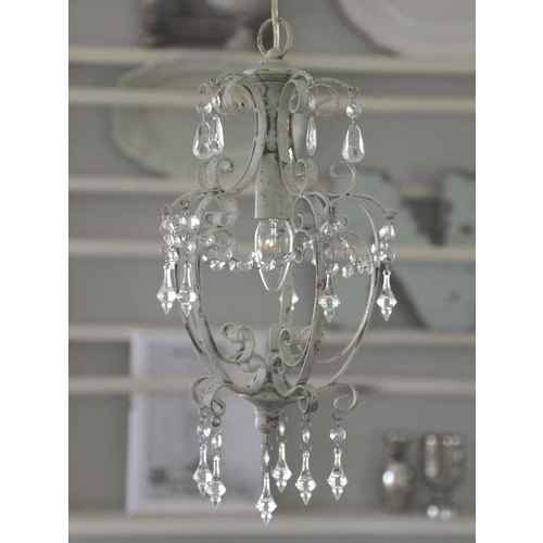 Chic antique chandelier with prisms antique white chic antique chandelier with prisms antique white small aloadofball Gallery